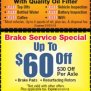 Discounts - Downey Car Care Center